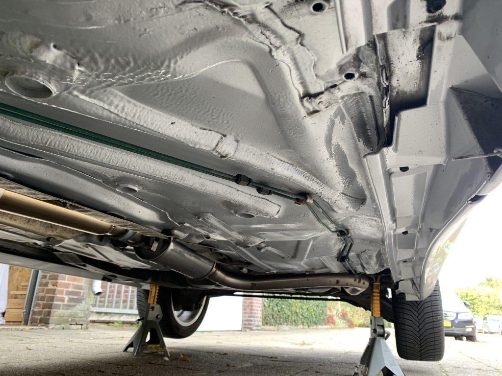 Saab 9-3 Aero Turbo left underbody